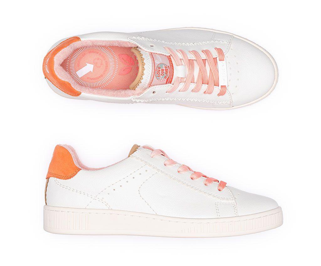 ADA Vegan Sneakers | White Coral