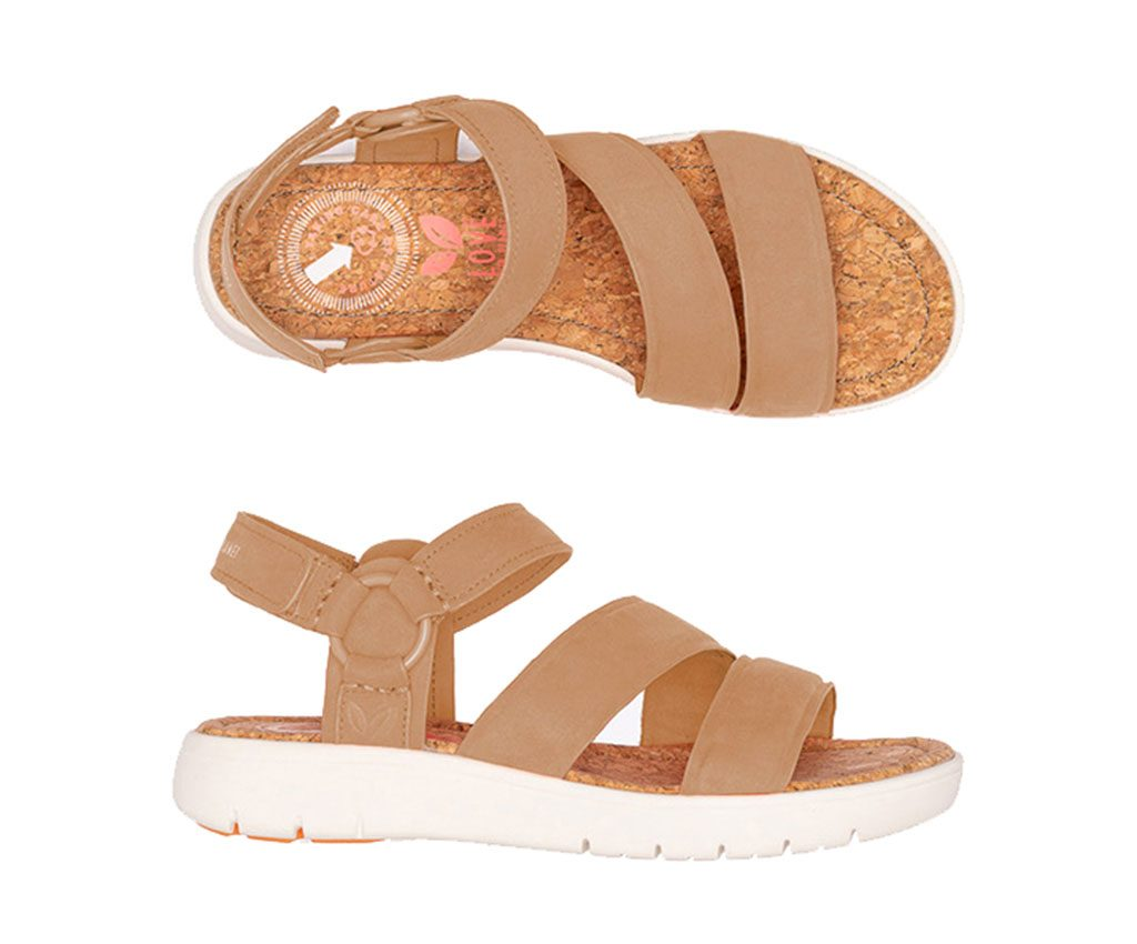 ANGELA FUN Vegan Sandals | Cognac