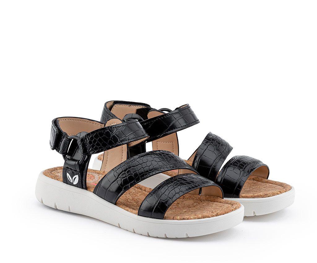 ANGELA WILD Vegan Sandals | Croco