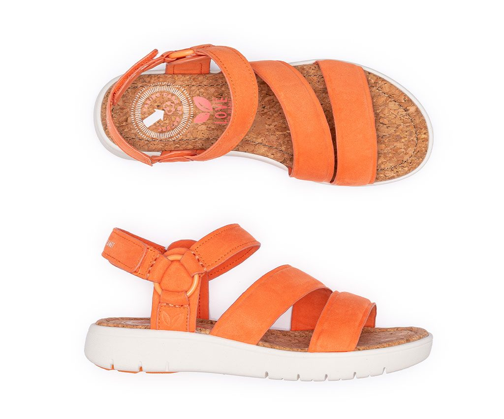 ANGELA FUN Vegan Sandals | Coral
