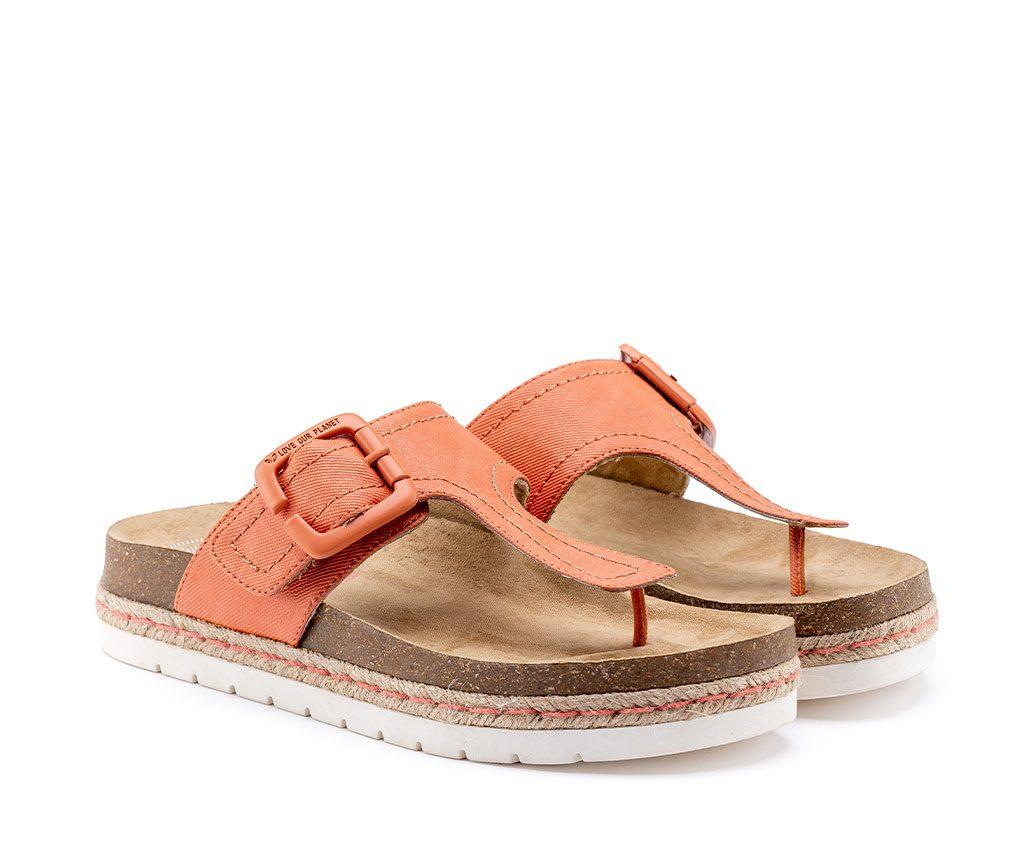CLIO SMILE Vegan Sandals | Coral