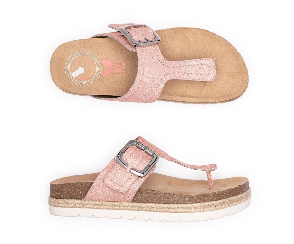 CLIO DREAM Vegan Sandals | Salmon