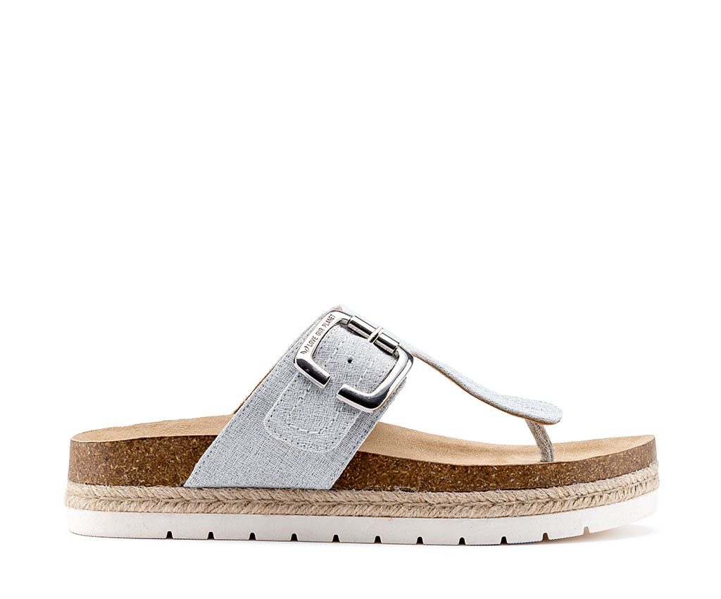 CLIO DREAM Vegan Sandals | Silver