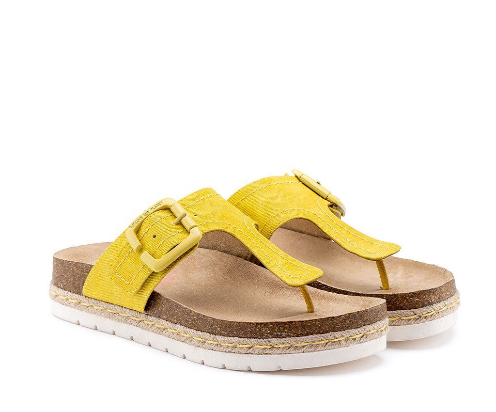 CLIO SMILE Vegan Sandals | Yellow