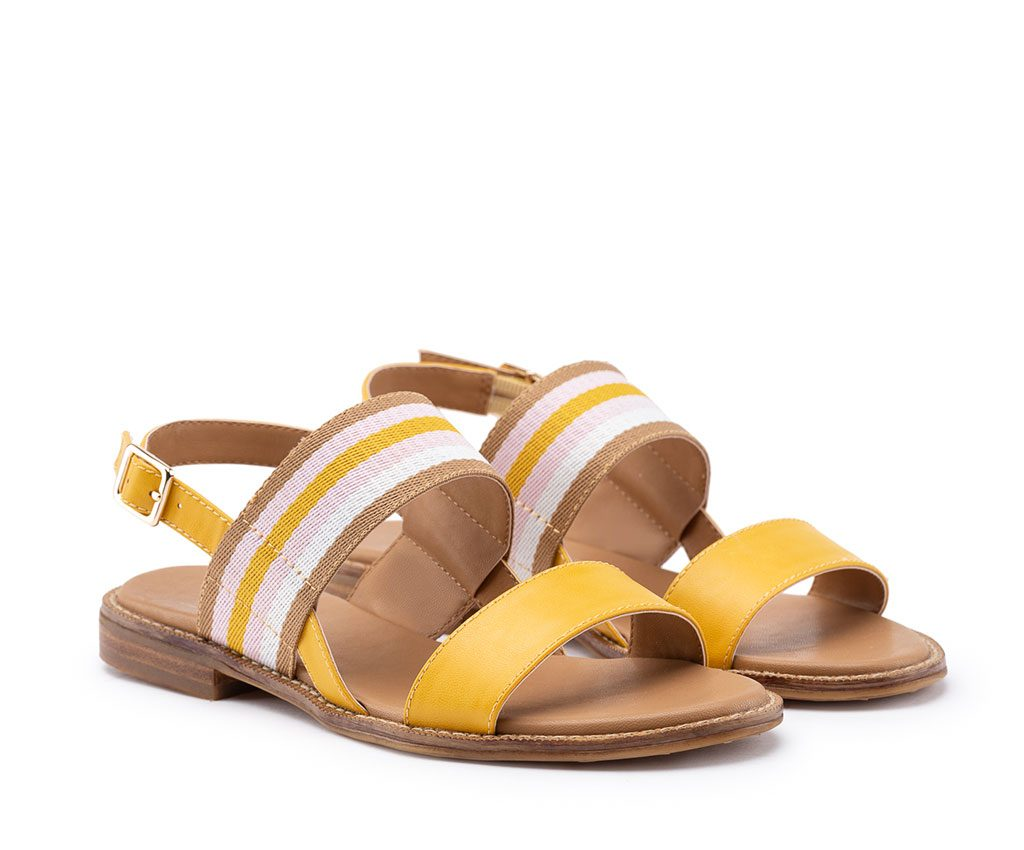DAFNE Vegan Sandals | Yellow