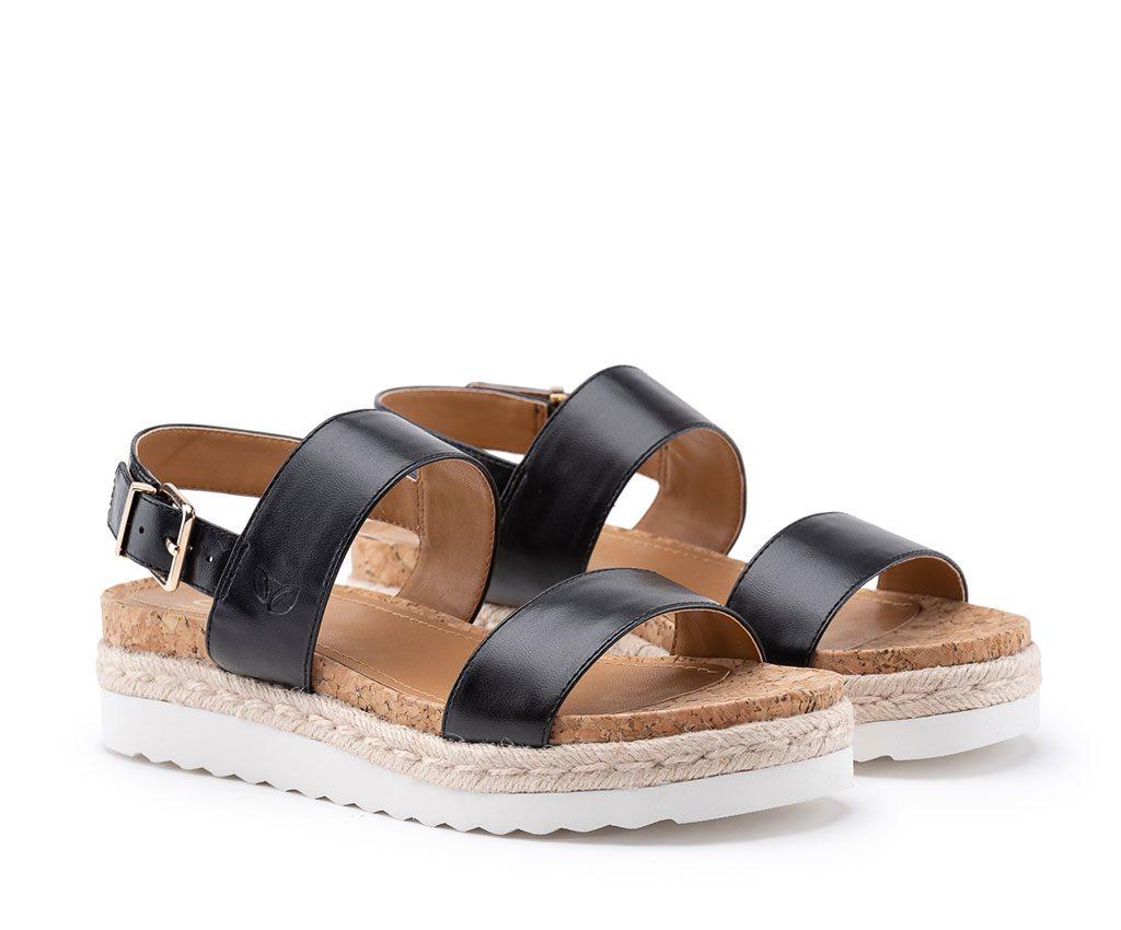 DIANA Vegan Sandals | Black