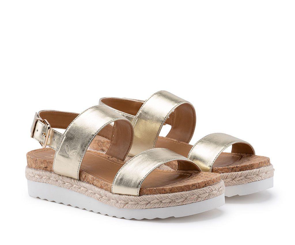 DIANA Vegan Sandals | Gold