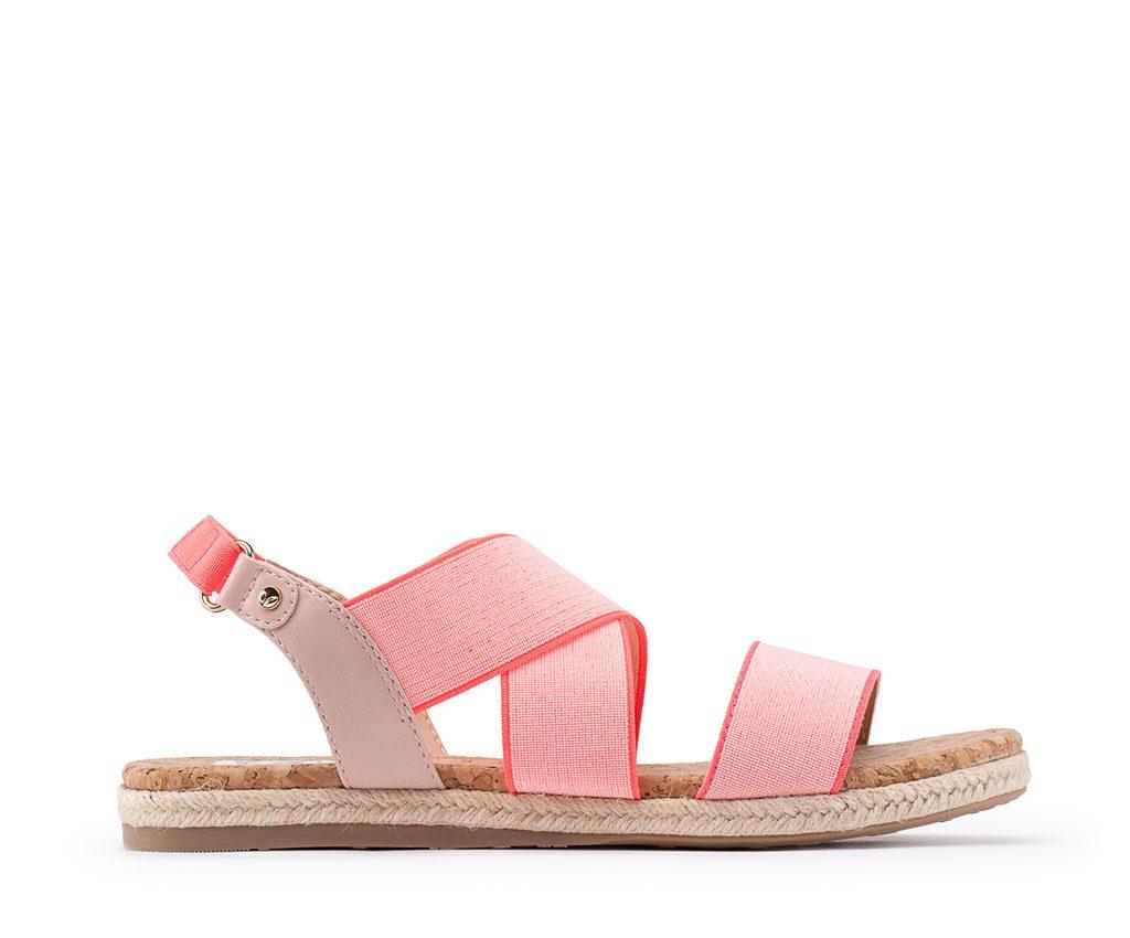 EBE Vegan Sandals | Blush Neon Pink