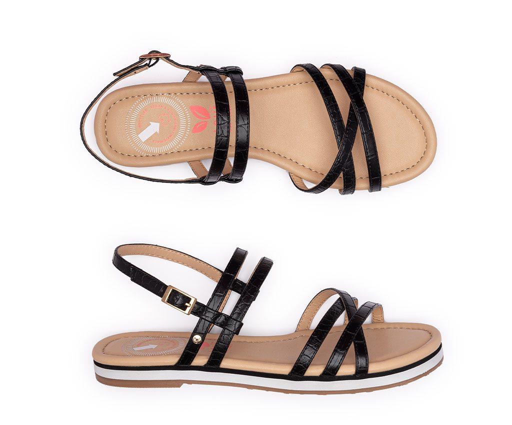 FRIDA Vegan Sandals   Black