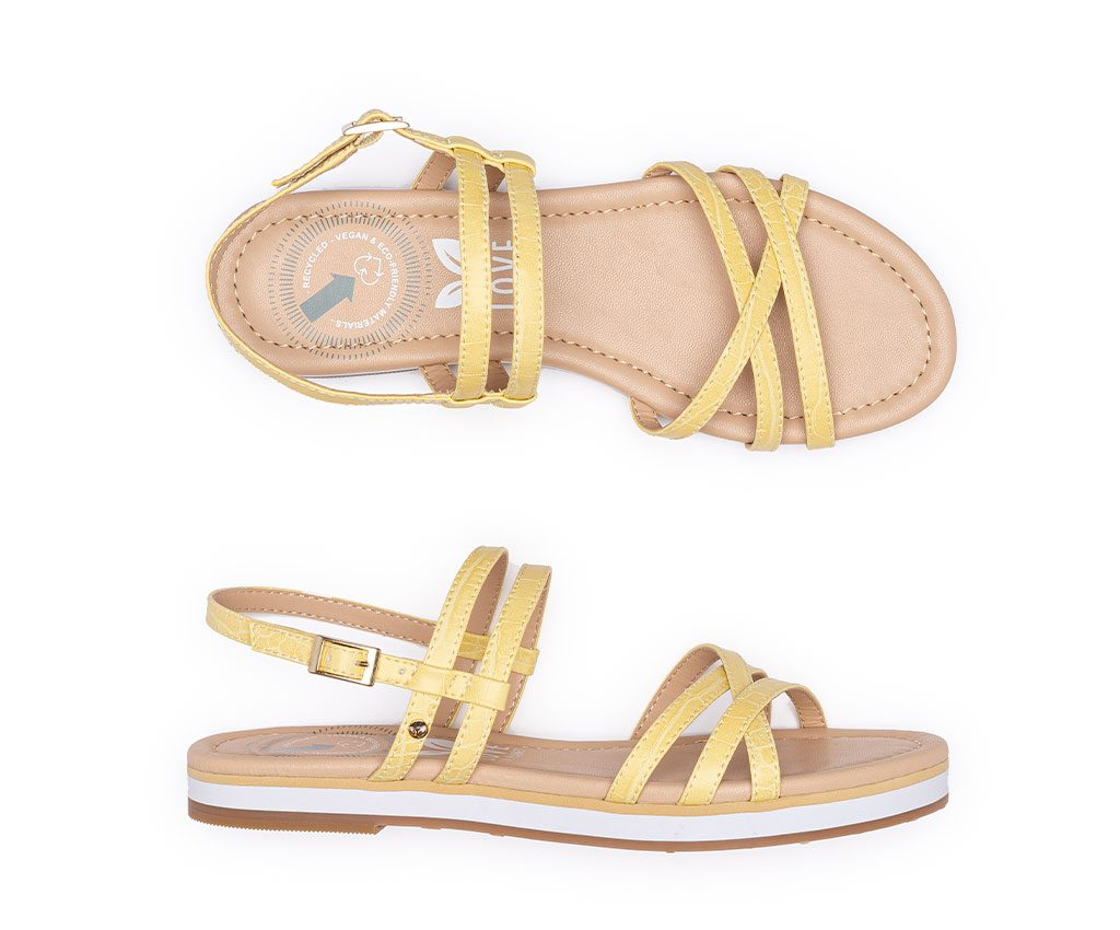 FRIDA Vegan Sandals | Pastel Yellow