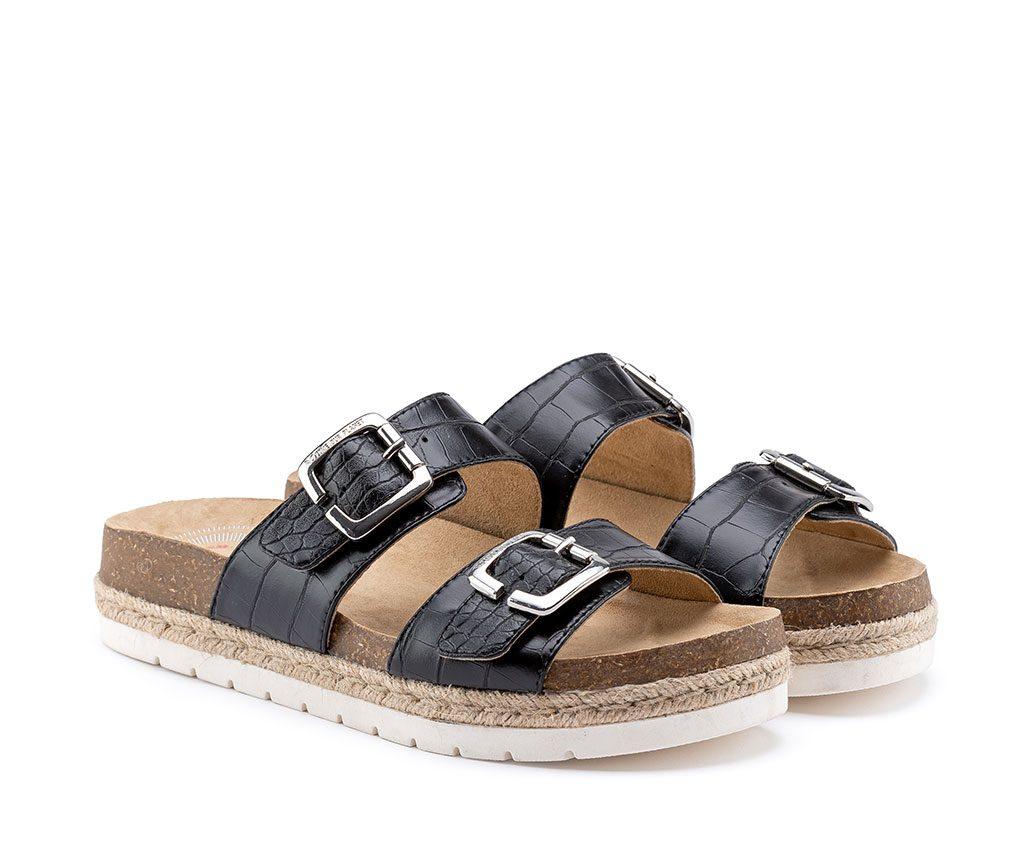 IRIS LOVE Vegan Sandals | Croco