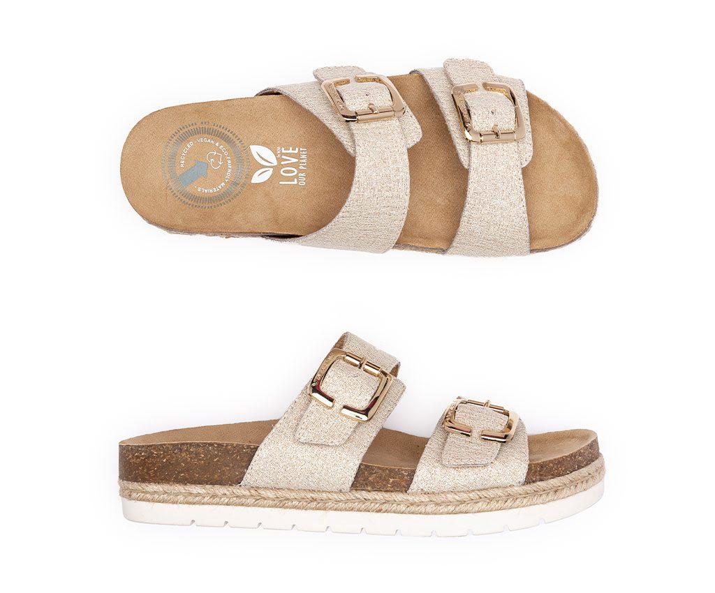 IRIS DREAM Vegan Sandals | Gold