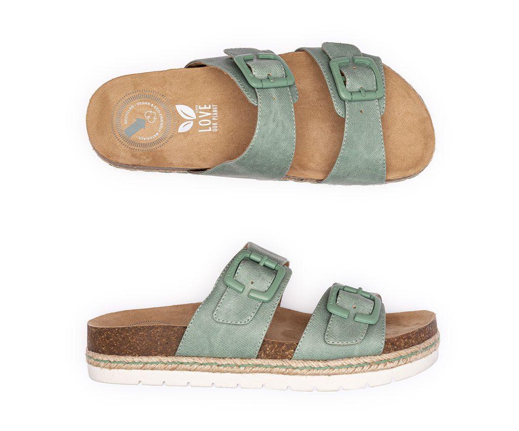IRIS SMILE Vegan Sandals | Green