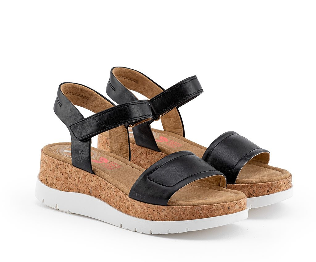 KATHARINA Vegan Sandals | Black