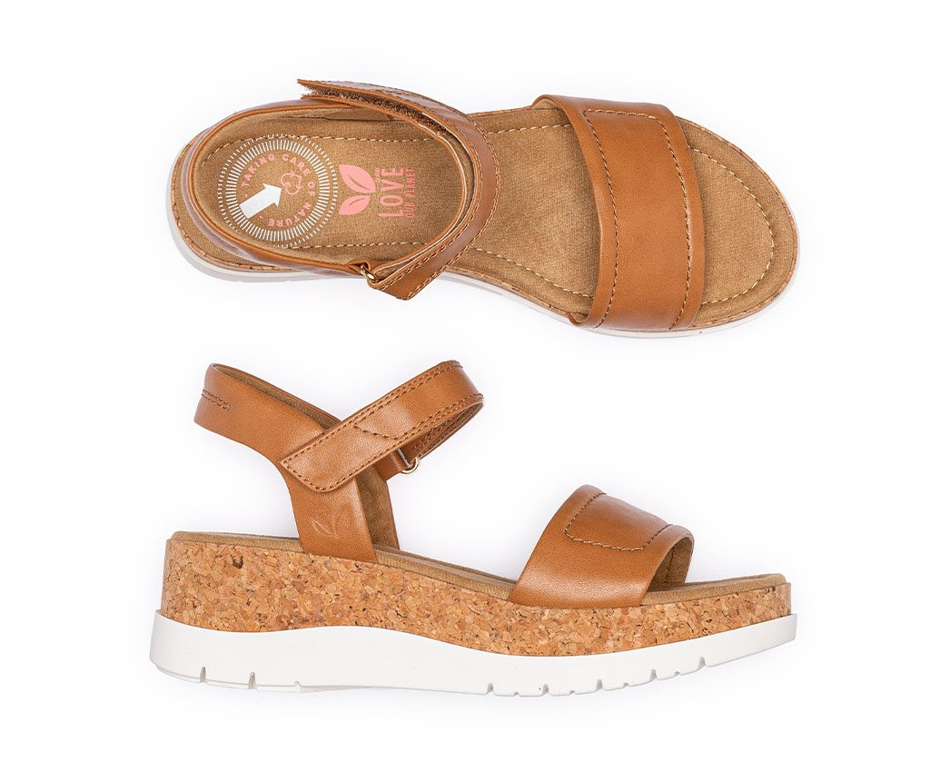 KATHARINA Vegan Sandals | Tan