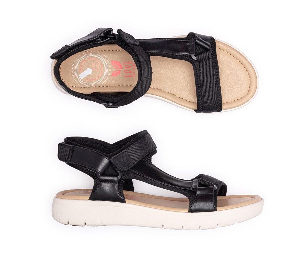 KRIS Vegan Sandals   Black