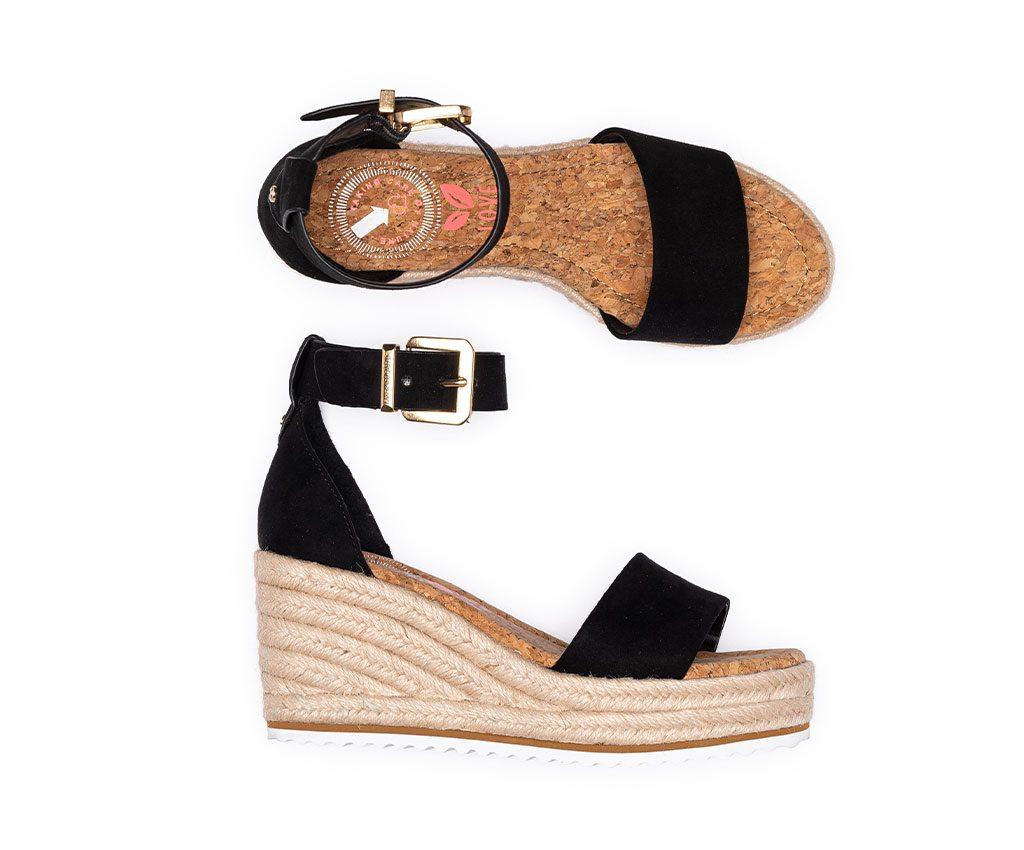 MARGARET Vegan Sandals | Black