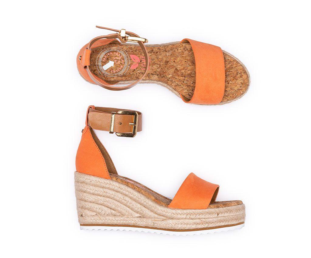 MARGARET Vegan Sandals | Coral