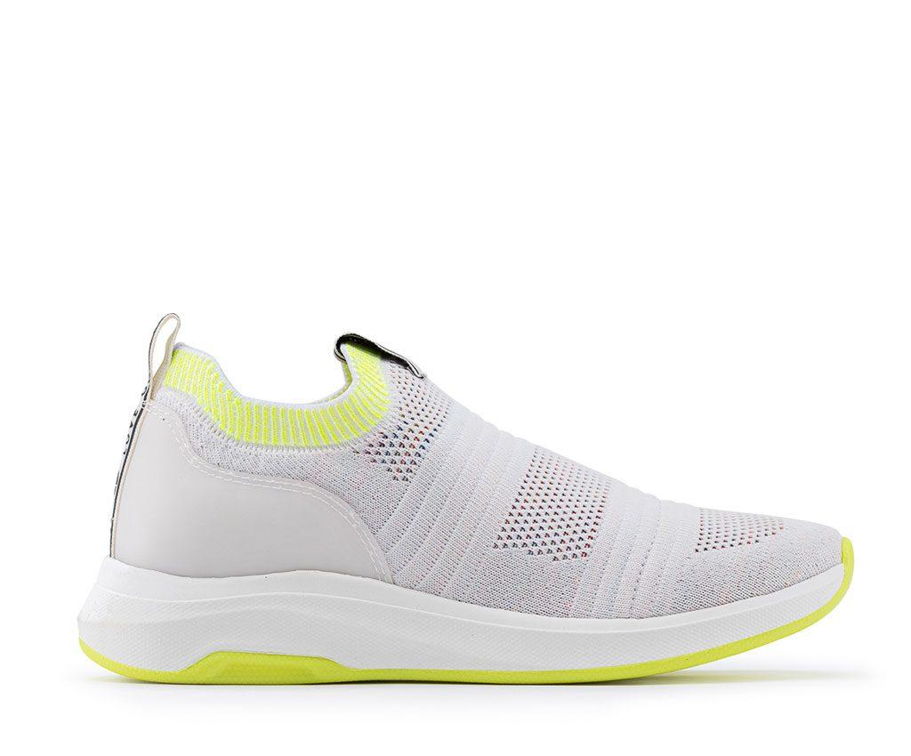 OLIMPIA Vegan Sneakers | White Neon Yellow