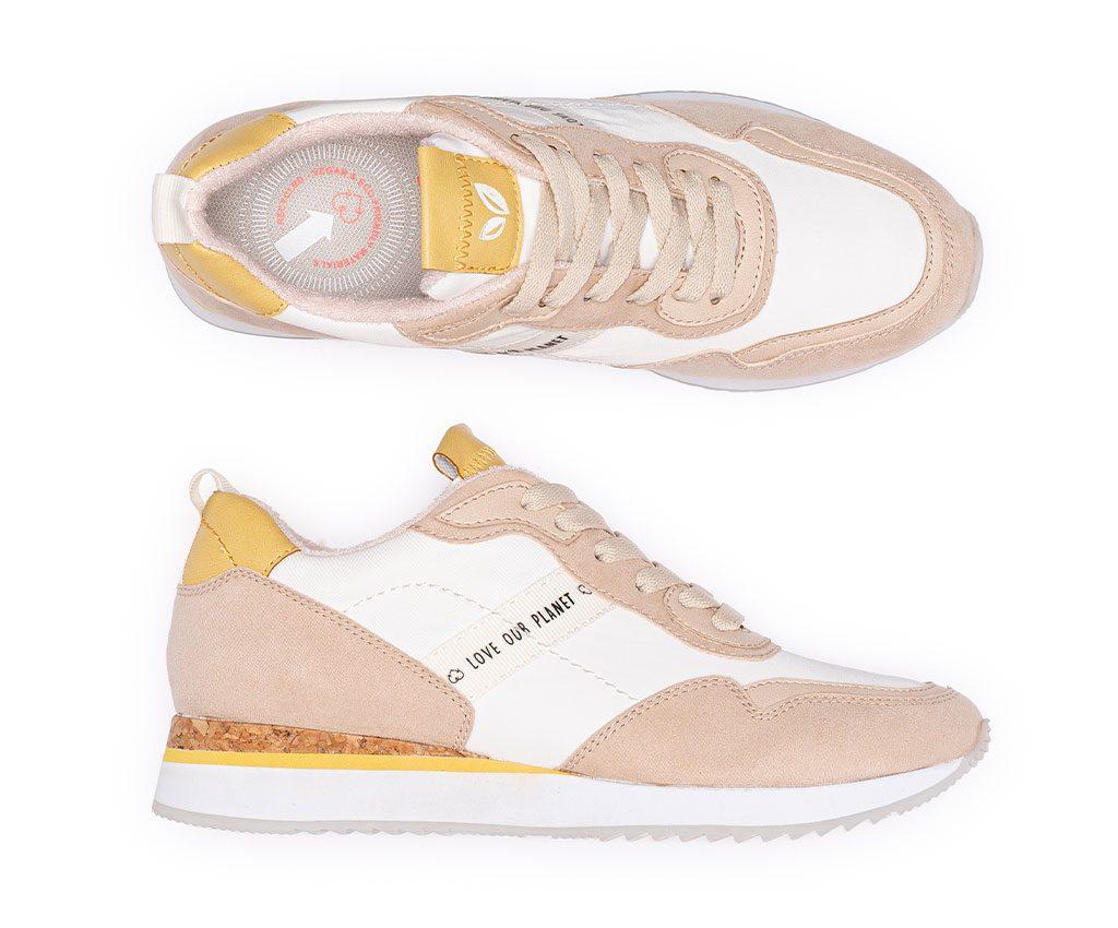 TERESA Vegan Sneakers   Nude Pastel Yellow